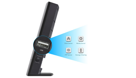 TP-Link Archer C20i Easy USB Storage and Sharing