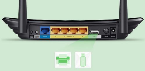 TP-Link Archer C2 Kemudahan Penyimpanan USB dan Berbagi