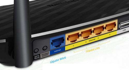 TP-Link Archer C2 Koneksi Kabel Gigabit