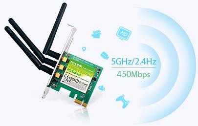 TP-Link TL-WDN4800 Kecepatan Nirkabel N Hingga 450Mbps