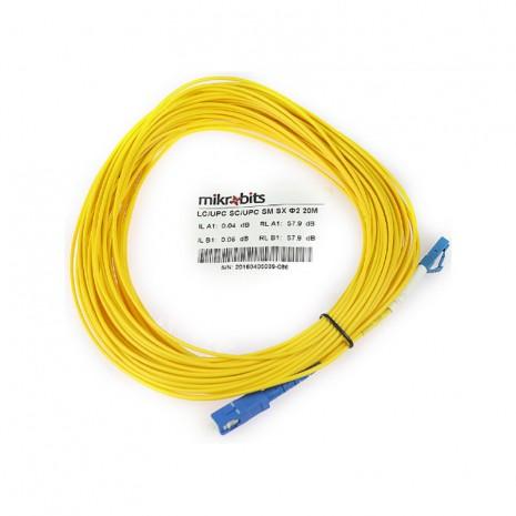 Mikrobits Patch Cable Singlemode LC-SC Simplex 20M 01