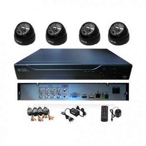 Paket CCTV SunBio 4 Camera Dome 3,6mm 700TVL Sony (DVR 8 port AHD 720p) 01