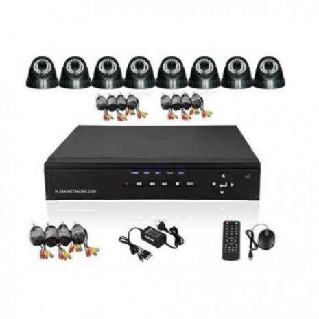 Paket CCTV SunBio 8 Camera Dome 3,6mm 700TVL Sony (DVR 8 port AHD 720p) 01