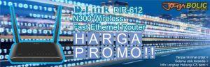 Promo harga special D-Link DIR-612 tanpa syarat. Selama stok tersedia. Info hubungi CS.
