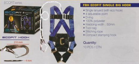 Harness Full Body Single Hook Eco Fit GoSave 01