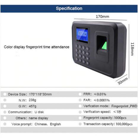 Fingerprint Attendance F01 06