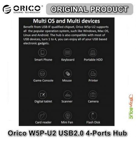 Orico W5P-U2 USB2.0 4-Ports Hub 04