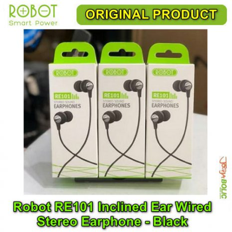 Robot RE101 Inclined Ear Wired Stereo Earphone – Black 04