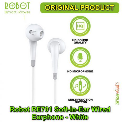 Robot RE701 Soft-in-Ear Wired Earphone – White 01