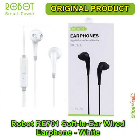Robot RE701 Soft-in-Ear Wired Earphone – White 03