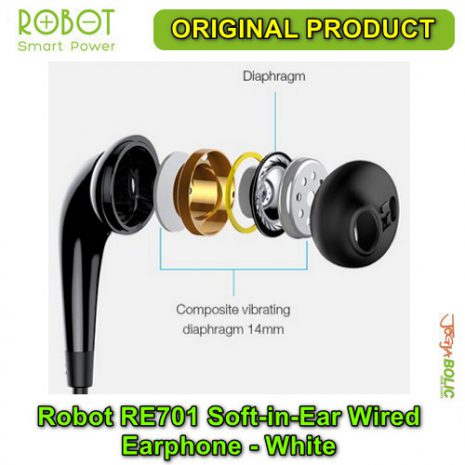 Robot RE701 Soft-in-Ear Wired Earphone – White 04