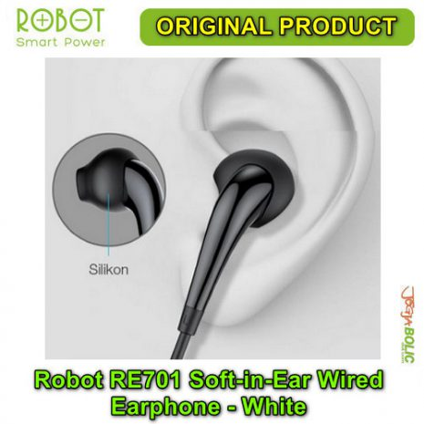 Robot RE701 Soft-in-Ear Wired Earphone – White 05