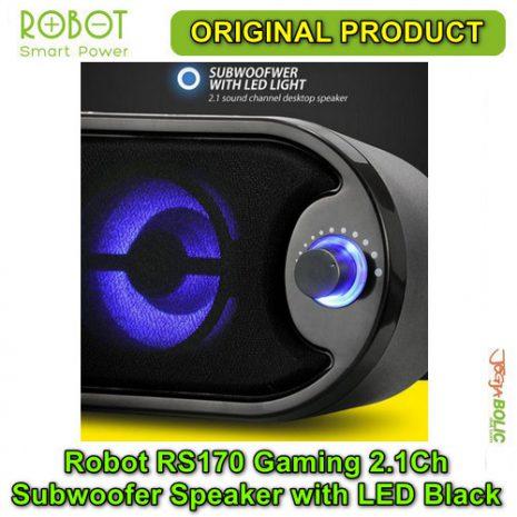 Robot RS170 Gaming 2.1Ch Subwoofer Speaker with LED – Black 02