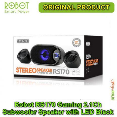Robot RS170 Gaming 2.1Ch Subwoofer Speaker with LED – Black 04