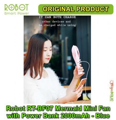 Robot RT-BF07 Mermaid Portable Mini Fan with Power Bank 2000mAh – Blue 03