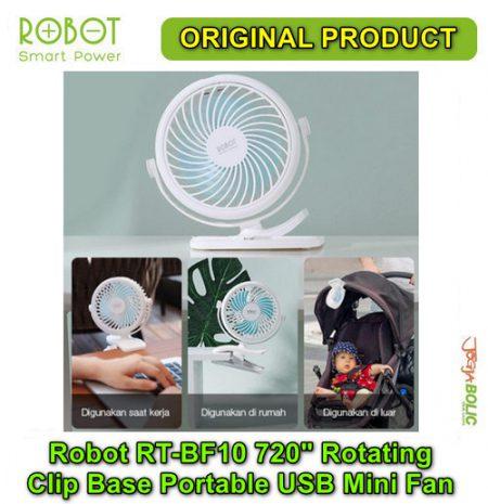 Robot RT-BF10 720 degree Rotating Clip Base Portable USB Mini Fan 02
