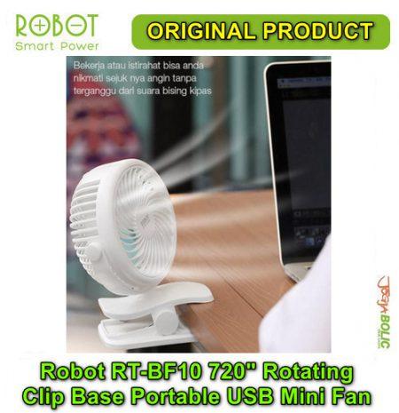 Robot RT-BF10 720 degree Rotating Clip Base Portable USB Mini Fan 03