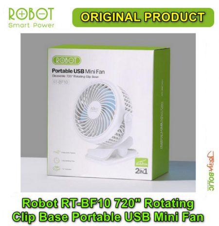 Robot RT-BF10 720 degree Rotating Clip Base Portable USB Mini Fan 06