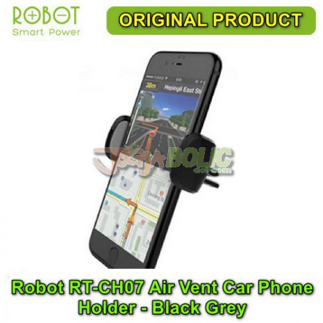 Robot RT-CH07 Air Vent Car Phone Holder Stent – Black Grey 02