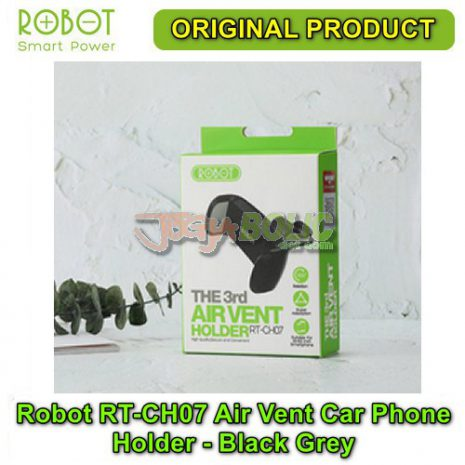 Robot RT-CH07 Air Vent Car Phone Holder Stent – Black Grey 05