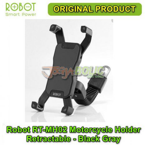 Robot RT-MH02 Motorcycle Holder Retractable – Black Gray 01