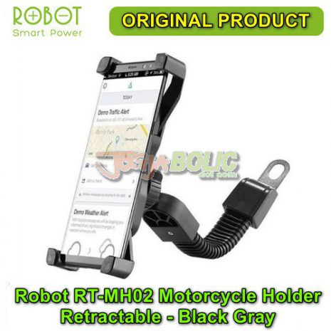 Robot RT-MH02 Motorcycle Holder Retractable – Black Gray 02