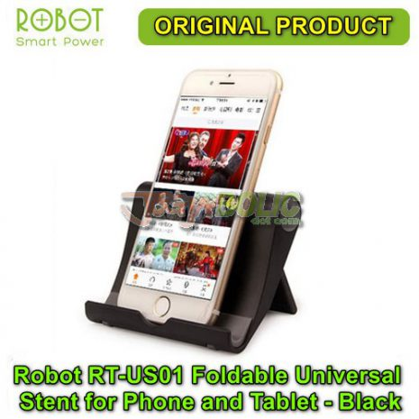 Robot RT-US01 Foldable Universal Stent for Phone and Tablet – Black 01