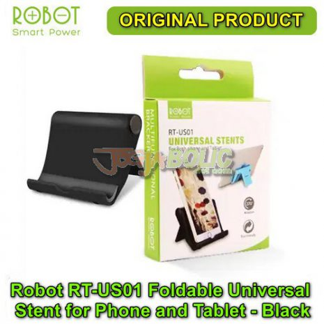 Robot RT-US01 Foldable Universal Stent for Phone and Tablet – Black 05
