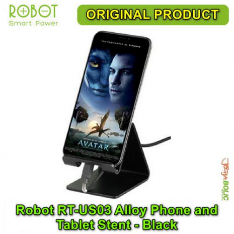 Robot RT-US03 Alloy Phone and Tablet Stent – Black 01