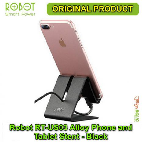 Robot RT-US03 Alloy Phone and Tablet Stent – Black 03