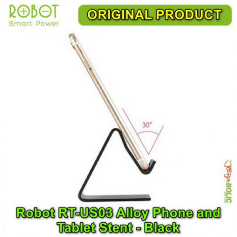 Robot RT-US03 Alloy Phone and Tablet Stent – Black 04
