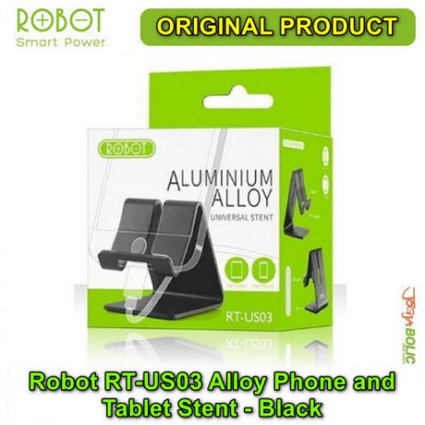 Robot RT-US03 Alloy Phone and Tablet Stent – Black 05