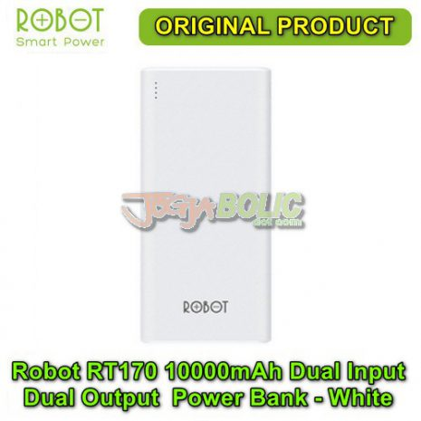 Robot RT170 10000mAh Dual Input Dual Output Anti Slip Power Bank – White 01