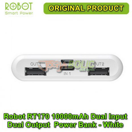 Robot RT170 10000mAh Dual Input Dual Output Anti Slip Power Bank – White 02