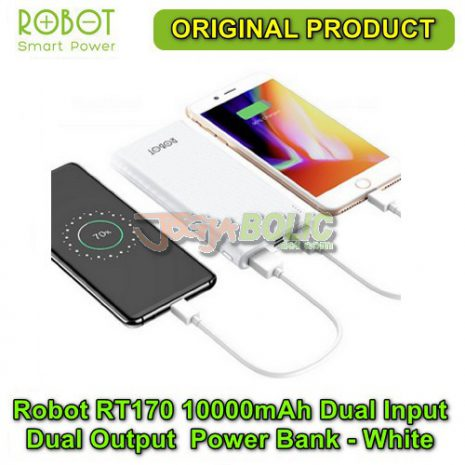 Robot RT170 10000mAh Dual Input Dual Output Anti Slip Power Bank – White 03