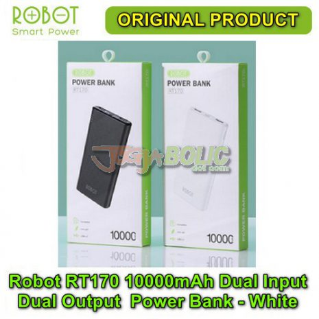 Robot RT170 10000mAh Dual Input Dual Output Anti Slip Power Bank – White 04