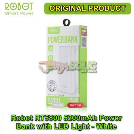 Robot RT5800 5200mAh Power Bank with LED Light – White 03