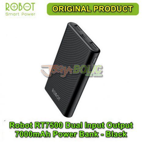 Robot RT7500 Dual Input Dual Output 7000mAh Power Bank – Black 01