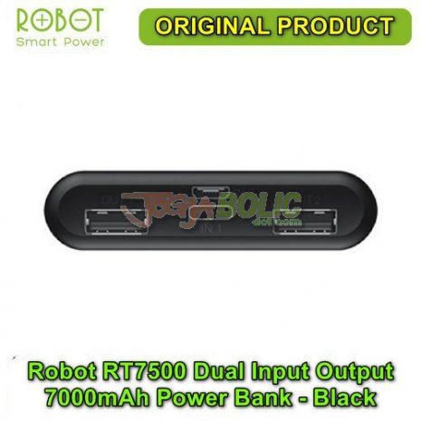Robot RT7500 Dual Input Dual Output 7000mAh Power Bank – Black 03