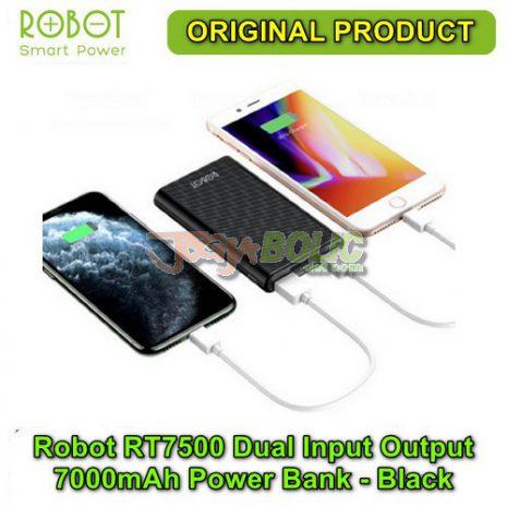 Robot RT7500 Dual Input Dual Output 7000mAh Power Bank – Black 04