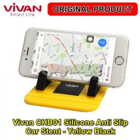 Vivan CHD01 Silicone Anti Slip Car Stent – Yellow Black 03