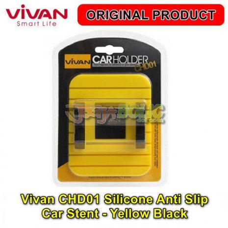 Vivan CHD01 Silicone Anti Slip Car Stent – Yellow Black 04