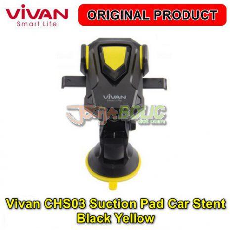 Vivan CHS03 Suction Pad Car Stent – Black Yellow 02