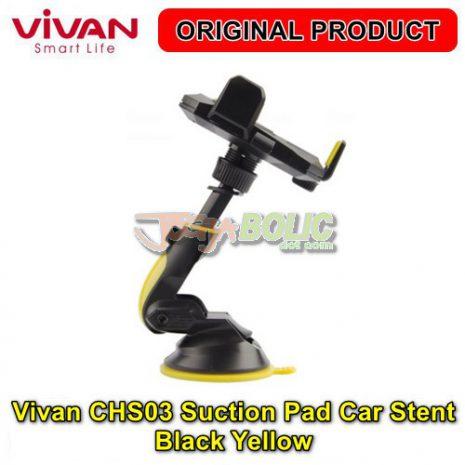 Vivan CHS03 Suction Pad Car Stent – Black Yellow 03