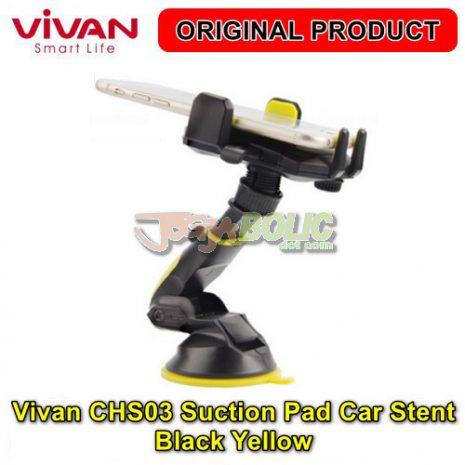Vivan CHS03 Suction Pad Car Stent – Black Yellow 04