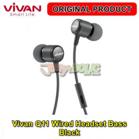 Vivan Q11 Wired Headset Bass – Black 01