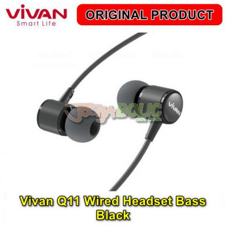Vivan Q11 Wired Headset Bass – Black 02