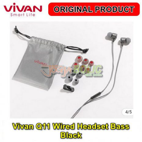 Vivan Q11 Wired Headset Bass – Black 03