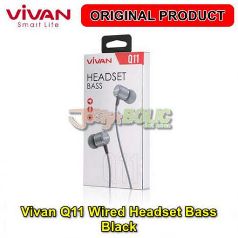 Vivan Q11 Wired Headset Bass – Black 04