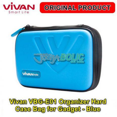 Vivan VBG-E01 Organizer Hard Case Bag for Digital Gadget – Blue 01